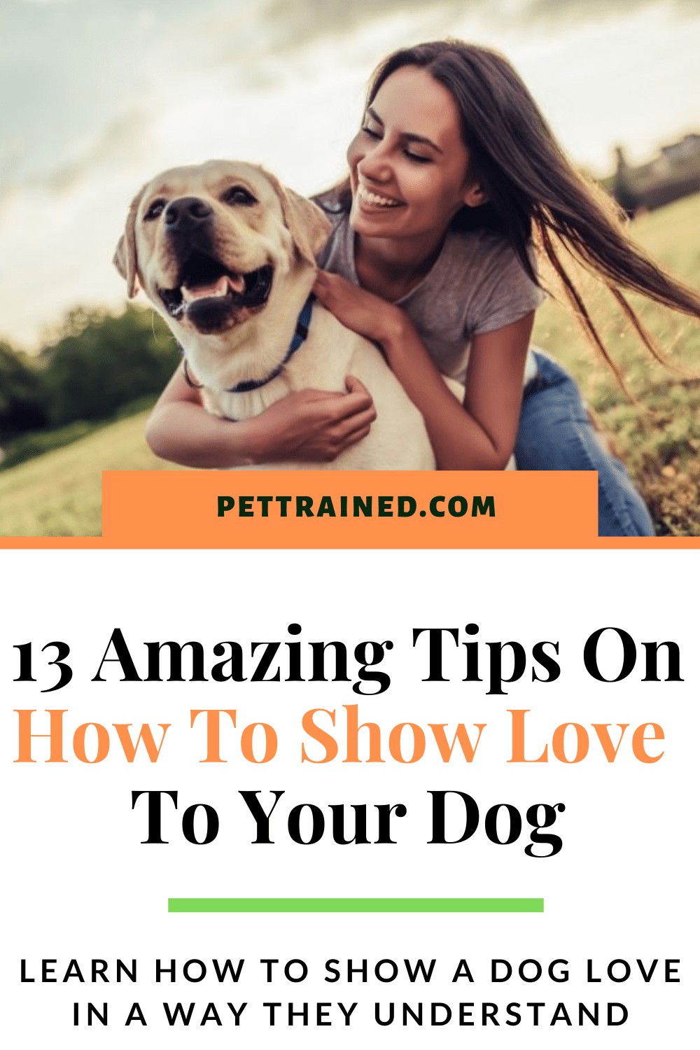 How to show a dog love clearly pin